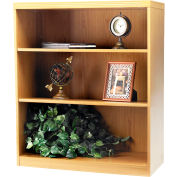 Safco® Aberdeen Series 3 Shelf Bookcase with 1 Fixed Shelf Maple