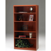 Safco® Aberdeen Series 5 Shelf Quarter Round with 1 Fixed Shelf Cherry