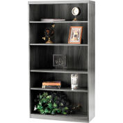 Safco® Aberdeen Series 5 Shelf Bookcase with 1 Fixed Shelf Gray Steel