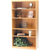 Safco® Aberdeen Series 5 Shelf Bookcase with 1 Fixed Shelf Maple