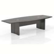 Mayline® 10' Boat-Shaped Conference Table Gray Steel - Aberdeen Series