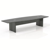 Safco® 12' Boat-Shaped Conference Table Gray Steel - Aberdeen Series