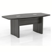Safco® 6' Boat-Shaped Conference Table Gray Steel - Aberdeen Series