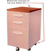 Safco® Aberdeen Series Pedestal Mobile Kit for APBF20 Suspended Credenzas Cherry