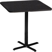 """Safco® Bistro Series 30"""" Square Bar Height Restaurant Table, Black"""