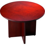 Mayline® Round Conference Table - Boat Shaped - Sierra Cherry - Corsica Series