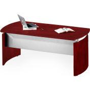 "Safco® Medina 63""W Desk 63""W x 36""D x 29-1/2""H Mahogany"
