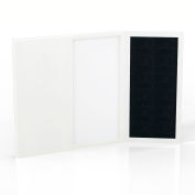 Safco® Medina Series Presentation Board Textured Sea Salt