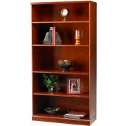 Safco® Sorrento Series 5-Shelf Bookcase Bourbon Cherry
