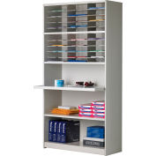 Mayline® Mailflow-To-Go Systems Mail Cabinet with Reference Shelf - 30 Pockets