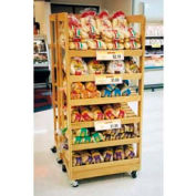 """Upright Bakery Display W/ 6-Shelve, 31""""L x 20""""W x 68""""H, Opticlear Laquer"""