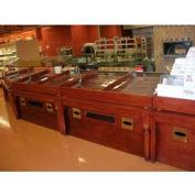 "Table W/ Sneeze Guard, 60""L x 37-3/4""W x 58-1/2""H, Hardwood, Select Cherry"
