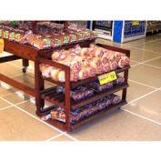 "Portable Bakery Rack, 39""L x 20-1/2""W x 34""H, Hardwood, African Limba"