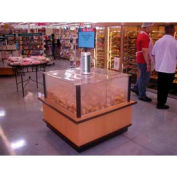 "Bolillo Bakery Display Case, 42""L x 42""W x 38""H, Hardwood, Monticello Maple Laminate"