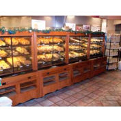 "Enclosed Bakery Self-Serve Unit, 48""L x 37""W x 70-1/4""H, Hardwood, Opticlear Laquer"