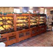 "Enclosed Bakery Self-Serve Unit, 48""L x 37""W x 70-1/4""H, Hardwood, Opticlear Laquer"