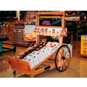 "Retract Cart W/ 32"" Wheels, 78""L x 36""W x 48""H, Hardwood, Opticlear Laquer"