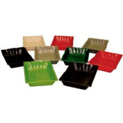 "Smooth Baskets W/ Holes, 12""L x 18""W x 2""H, Plastic, Black"