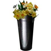 "Galvanized Floral Cone, 7-1/2""L x 5""W x 15""H, Metal, Galvanized"