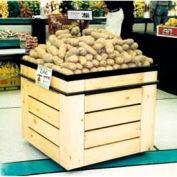 "Bin W/ Shelves, 36""L x 36""W x 32-1/4""H, Wood, African Limba"