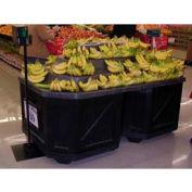 "Banana Riser For 2 Oct Style Bins, 47-1/2""L x 79""W x 16""H, Black"