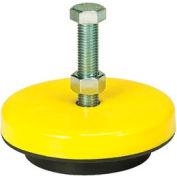 "Neoprene Machinery Leveling Mount - 6-1/4""L x 6-1/4""W x 1-3/5""H"