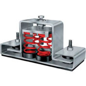 "Floor Mount Seismic & Wind Vibration Isolator - 8-3/4""L x 2-1/2""W Orange"