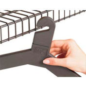 Slotted Hook Hangers, 24 Pack, Charcoal Gray
