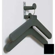 Wall/Door Mounted Personal Costumer with 2 Hangers, Black