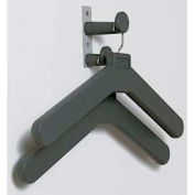 Wall/Door Mounted Personal Costumer with 2 Hangers, Charcoal Gray