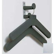 Wall/Door Mounted Personal Costumer with 2 Hangers, Polished Chrome