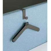 "3-1/2""W Panel Mounted Personal Costumer with 1 Hanger, Charcoal Gray"