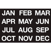 Magnetic Headings Months Of The Year, White on Black