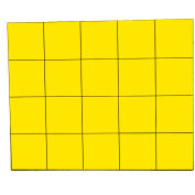 "3/4"" Yellow Magnetic Squares 20/Pk"