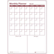 Monthly Dry-Erase Vinyl Magnetic Planner