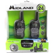 Mayday Midland Walkie Talkies, 10221, 24 Mile Range, 22 Channels, 1 Pair