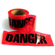 "Mayday Barricade Tape, EE43, ""Danger"", 300'L Roll, Red/Black"