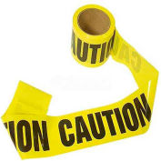 """Mayday Barricade Tape, EE44, """"Caution"""", 300'L Roll, Yellow/Black"""