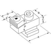 Mitee-Bite 24000 - T-Slot Toe Clamps - No T-Nut Or Mtg Screw 65ft/Lbs - Min Qty 3