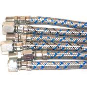 """Mitco P131-19m Flexible Oil Line, 36""""L X 1/2""""Dia., 1/4""""Npt Male End Connectors Both Ends"""