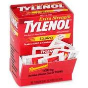 Tylenol Extra Strength Caplet, Minor Aches, Pains, 50/BX