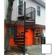 """Spiral Staircase Kit - The Iron Shop, Beach, CODE Alum/Dmd Plt, 5'0"""", 12 Riser, Gloss White"""