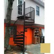 """Spiral Staircase Kit - The Iron Shop, Beach, CODE Alum/Dmd Plt, 5'0"""", 13 Riser, Gloss Tan"""