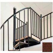 "Spiral Staircase Kit - The Iron Shop, Beach, Aluminum Tube Balcony Rail, 5'0"", Rust"
