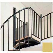"Spiral Staircase Kit - The Iron Shop, Beach, Aluminum Tube Balcony Rail, 5'0"", Gloss Tan"