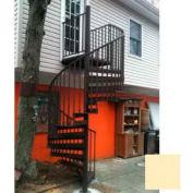 Spiral Staircase Kit - The Iron Shop, Beach, CODE Alum/Dmd Plt, 11 Riser, Gloss Sandstone