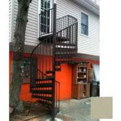 """Spiral Staircase Kit - The Iron Shop, Beach, CODE Alum/Dmd Plt, 5'6"""", 11 Riser, Gloss Champagne"""