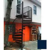 "Spiral Staircase Kit - The Iron Shop, Beach, CODE Alum/Dmd Plt, 5'6"", 11 Riser, Gloss Navy Blue"