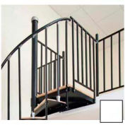 "Spiral Staircase Kit - The Iron Shop, Beach, Aluminum Tube Balcony Rail, 5'6"", Matte White"