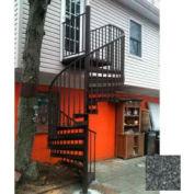 "Spiral Staircase Kit - The Iron Shop, Beach, CODE Alum/Dmd Plt, 5'6"", Add'l Riser, Weathered Iron"